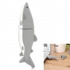 Cute Shark Style USB 2.0 Flash Disk Drive - Grey + White (4GB)