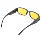 2.5D Presbyopic LED Money Detector Glasses - Black + Yellow
