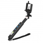 S198 Bluetooth 4-Button Selfie Monopod w/ Holder, USB Cable - Black