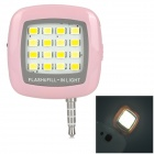 Smart 16-LED Warm White Light 3-Mode Fill Light for Mobile Phone - Pink