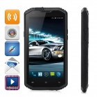 "NO.1 X-Men X2 5.5"" Quad-Core Android 4.4.4 LTE 4G IP68 Waterproof Phone w/ 1GB RAM, 8GB ROM - Black"