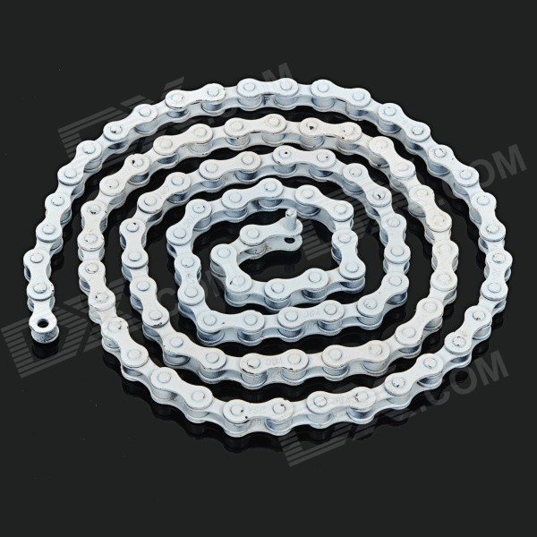 96-Link High-Carbon Bicycle Single Speed Chain for Fixed Gear - White