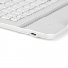 Aluminum Alloy Bluetooth 60-Key Keyboard for Google Nexus 9 - White