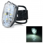 HJ-031 USB Rechargeable 100lm 4-mode White Light LED Warning Tail Lamp for Bicycle - Black + White