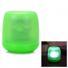 Flameless Blow on / off Sound Sensor White Light LED Candle Holiday Lamp - Green (3 x AG13)