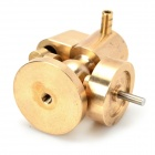 DIY Educational Copper + Alumiiniseos Steam Engine Model - Golden