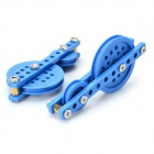 70# DIY Creative Assembling Pulley Toy Set - Blue + Silver