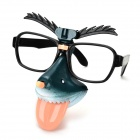 YT-5855 Funny Cosplay Glasse w/ Nose + Brows - Black