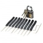 ZH-GS+9HS 9-in-1 Lock Pick + Training Padlock Locksmith Tool Set