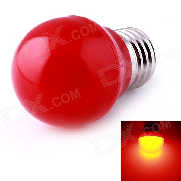A0029 E27 3W LED Lamp Globe Bulb 700nm Red Light 210lm SMD 2835 - Red (AC 220V)