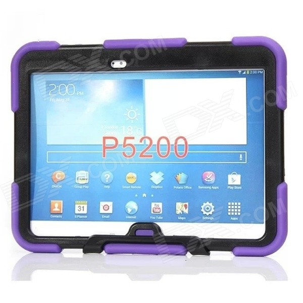 Silicone Case w/ Stand for Galaxy Tab 3 10.1 P5200 - PurpleTablet Cases<br>Form  ColorPurpleModelP5200Quantity1 DX.PCM.Model.AttributeModel.UnitShade Of ColorPurpleMaterialSiliconeCompatible BrandSamsungTypeCases with Stand,Full Body CasesStyleCasualCompatible Size10.1 inchPacking List1 x Case<br>