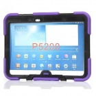 "Stylish Protective Silicone Case w/ Stand for Samsung Galaxy Tab 3 10.1"" P5200 - Purple"