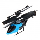 QS5010 2.4GHz 3-Channel Super Mini Infrared RC Helicopter w/ Gyro - Blue + Black