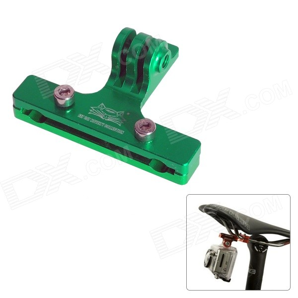 Fat Cat Cycling Bike 2-Rail Saddle Seat Mount for GoPro - Green