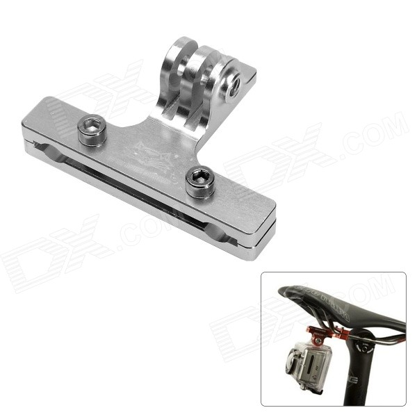 Fat Cat Cycling Bike 2-Rail Saddle Seat Mount for GoPro - Silver
