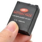 3.7V 1630mAh Li-ion Battery for GoPro Hero 3 / 3+ - Black