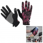 Naturehike transpirables Full- Finger Touch- Screen Guantes - Negro + color rosa oscuro ( L / par)