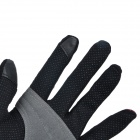 NatureHike Full-Finger Cycling Gloves - Black + Deep Pink (L / Pair)