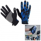 NatureHike Breathable Full-Finger Touch-Screen Cycling Gloves - Black + Blue (L / Pair)