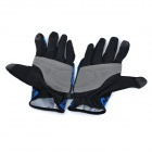 NatureHike Full-Finger Cycling Gloves - Black + Blue (L / Pair)
