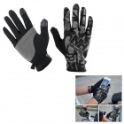 NatureHike Breathable Full-Finger Touch-Screen Cycling Gloves - Black + Grey (L / Pair)