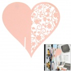 Romantic Heart-shaped Wedding Decorative Card / Table Card - Pink