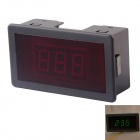 "AC 12V ~ 400V LED grün 0,56 ""Display 2-Leiter 3-Digit-Panel Voltage Meter Voltmeter - Schwarz"