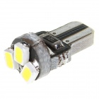 T5 1W 3-LED Car Instrument Lamp White Light 6000K 23lm SMD 1206(2PCS)