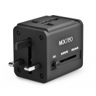 MOCREO Travel Power Adapter Converter / AU / UK / US / EU Plug - Black