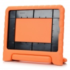 Portable Protective Silicone Back Case Cover w/ Handle / Stand for IPAD AIR 2 - Orange