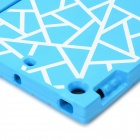 Protective Silicone Back Case Cover w/ Stand for IPAD AIR - Blue