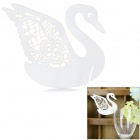 Swan Shaped Wedding Decorative Card / Table Card - White