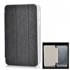 Protective Flip Open PU Leather + Plastic Case w/ Stand for Asus MeMo Pad 8 (ME181C) - Black
