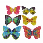 Large Butterflies Style Refrigerator Fridge Magnets - Orange + Pink + Multi-Colored (6 PCS)