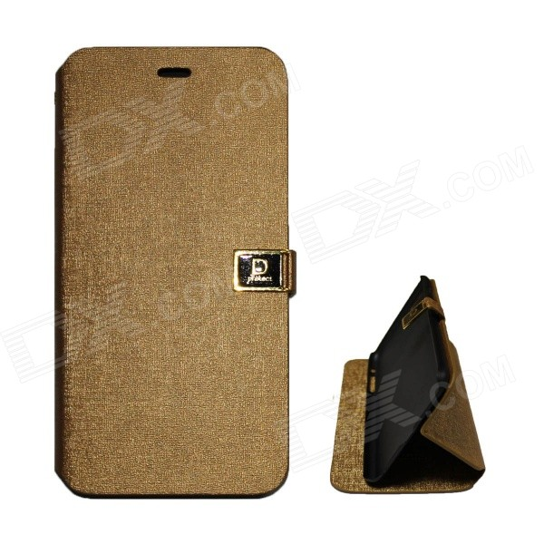 Protective PU-Leder Flip Open Case w / Stand / Dual-Karten-Slots für IPHONE 6 PLUS - Champagner Gold