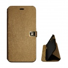 Protective PU Leather Flip Open Case w/ Stand / Dual Card Slots for IPHONE 6 PLUS - Champagne Gold