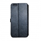 PU Flip Open Case w/ Stand, Card Slots for IPHONE 6 PLUS - Dark Blue