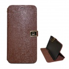 Protective PU Leather Flip Open Case w/ Stand / Dual Card Slots for IPHONE 6 PLUS - Brown