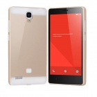 TOCHIC Metal Wire Drawing Titanium Alloy Bumper Frame w/ Back Cover for XIAOMI Redmi Note - Golden