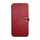 PU Flip Open Case w/ Stand, Card Slots for IPHONE 6 PLUS - Red