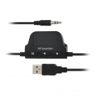 "1.1"" USB Powered FM Transmitter w/ Hands-Free Calls / 3.5mm / Car Charger for Cellphone / MP3 Player"