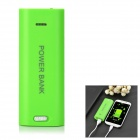2-in-1 Camera Shutter Remote + 5600mAh Li-ion Battery Power Bank w/ LED for IPHONE + More - Green