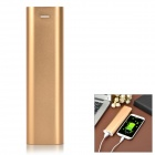 Universal 3.7V 10400mAh Portable External Li-ion 18650 Battery Power Bank - Golden