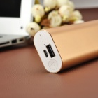 Universal 10400mAh External Li-ion 18650 Battery Power Bank - Golden