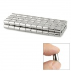 Round Style N35 6 x 8mm NdFeB Magnets - Silver (100 PCS)