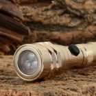 Retractable 30lm LED Flashlight w/ Magnetic Head - Golden