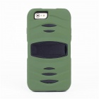 Dust-proof Shock-resistant Protective Silicone Case w/ Stand for IPHONE 6 PLUS - Army Green