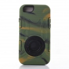 Shockproof Anti-dust Protective TPU Case Armor w/ Holder Ring for IPHONE 6 PLUS - Green Camo