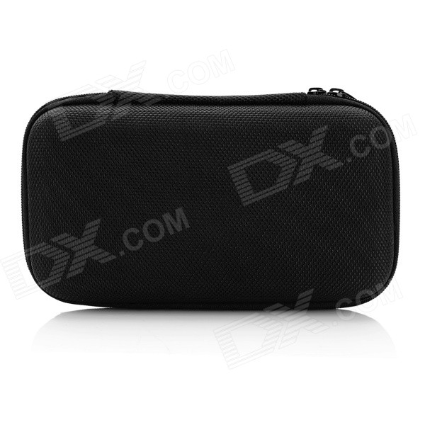 Portable ABS + Nylon Storage Bag for MP3 / Headphone + More - Black