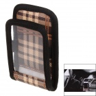 Air Outlet Mounted Soft PU & Fabric Organizer Bag for Car - Black + Brown